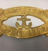 """Brass Sign """"Welcome Aboard"""""""
