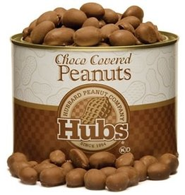Hubbard Peanut Co. Hubs Choco Covered Peanuts 20oz. Can #SDP1