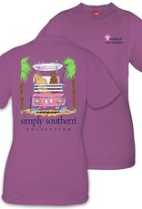 Simply Southern CART-EGGPLANT-SMALL Short Sleeve Shirt