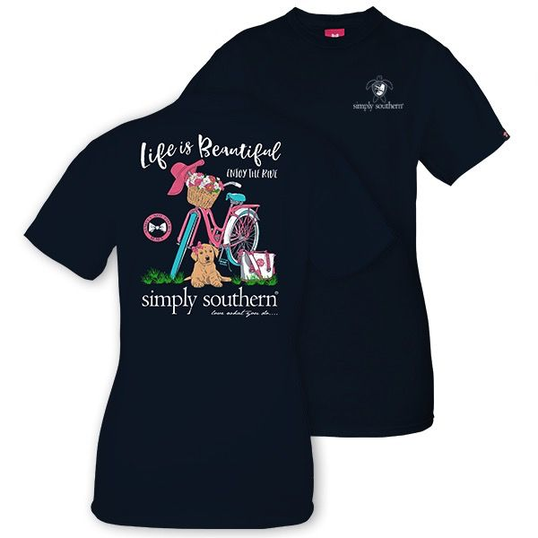 Simply Southern LIFE-NAVY-MEDIUM Short Sleeve Tee by Simply Southern