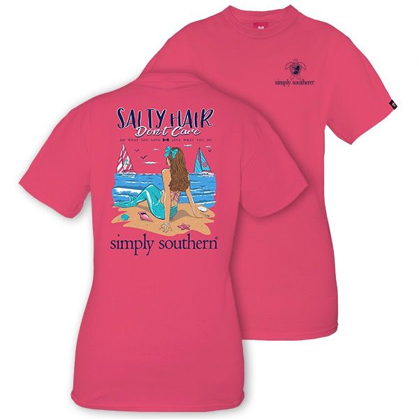 Simply Southern SALTY-STRWBRRY-LARGE Short Sleeve Tee by Simply Southern