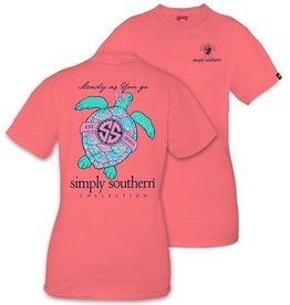 Simply Southern TURTLE-PEONY-SMALL Short Sleeve Tee by Simply Southern