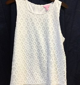 Lilly Pulitzer 24291 115 RK1 XL MAYBELLE TOP RESORT WHITE ISLAND TIME KNIT LACE SIZE XL by Lilly Pulitzer