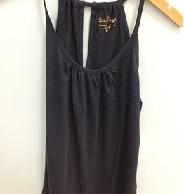 Lilly Pulitzer 23140 408 XL LACY TANK TRUE NAVY XL by Lilly Pulitzer