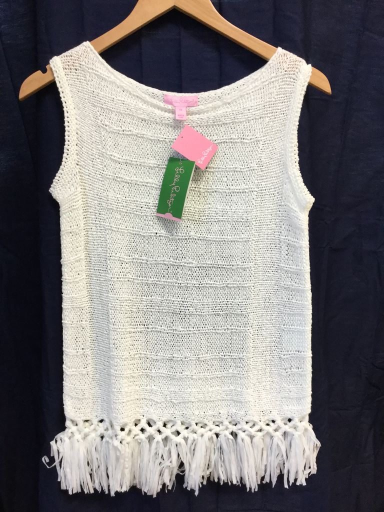 Lilly Pulitzer 20057 115 XS LUCA SWEATER RESORT WHITE SIZE XS by Lilly Pulitzer