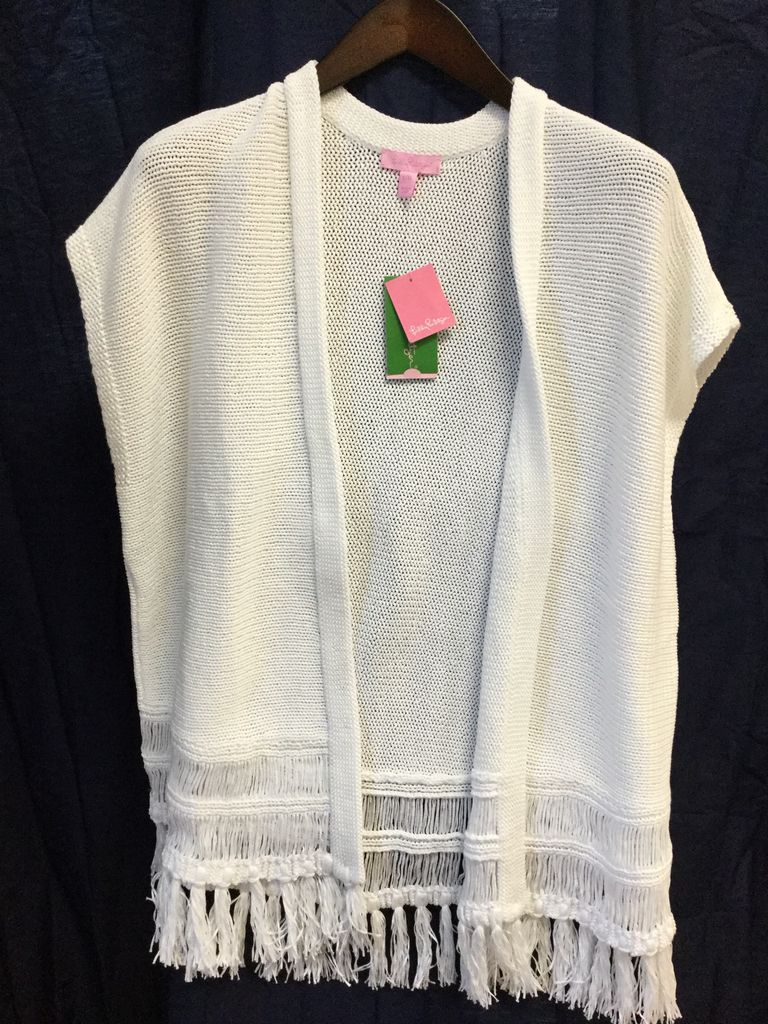 Lilly Pulitzer 23748 115 S/M BEDFORD CARDIGAN RESORT WHITE SIZE S/M by Lilly Pulitzer