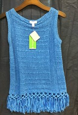 Lilly Pulitzer 20057 516 XS LUCA SWEATER LAPIS BLUE SIZE XS by Lilly Pulitzer