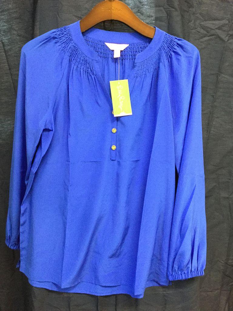 Lilly Pulitzer 46456 461 XXS ELSA TOP BRILLIANT BLUE SIZE XXS by Lilly Pulitzer