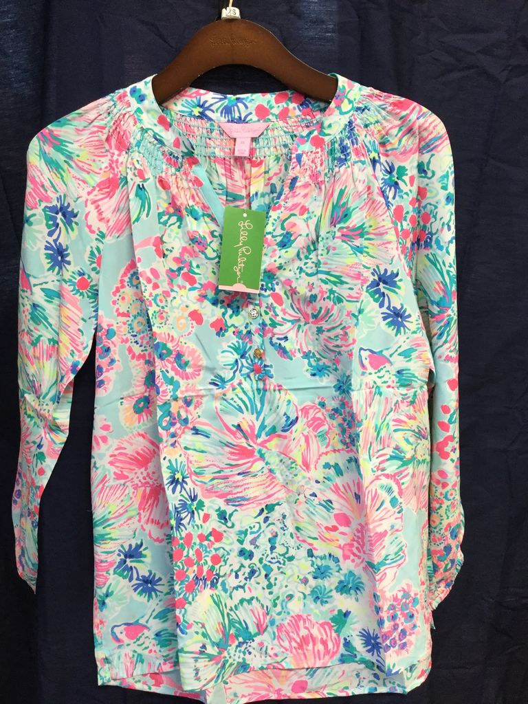 Lilly Pulitzer 41773 460 RG6 S ELSA TOP SERENE BLUE GYPSEA SIZE S by Lilly Pulitzer