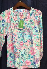 Lilly Pulitzer 41773 460 RG6 M ELSA TOP SERENE BLUE GYPSEA SIZE M by Lilly Pulitzer