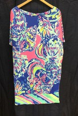 Lilly Pulitzer 24580 999 RV1 M LOWE DRESS MULTI COASTAL RETREAT ENGINEERE SIZE M by Lilly Pulitzer
