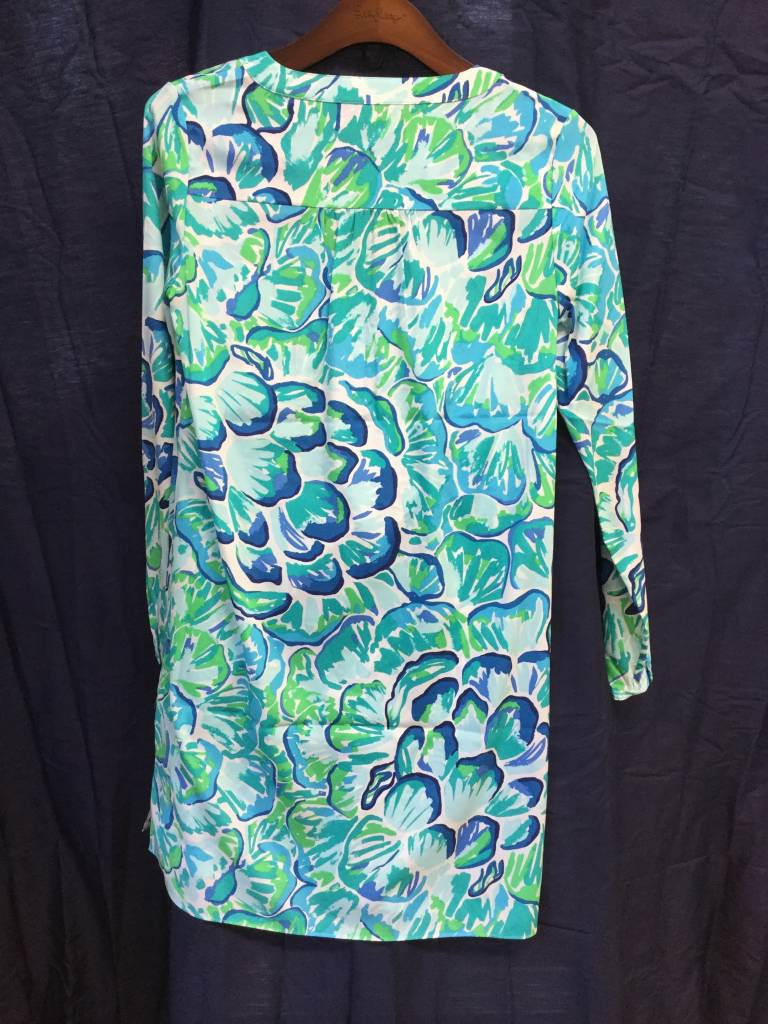 Lilly Pulitzer 25077 391 RD1 XS DELPHINE STRETCH SILK TUN AGATE GREEN LAZY RIVER SIZE XS by Lilly Pulitzer