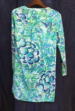 Lilly Pulitzer 25077 391 RD1 L DELPHINE STRETCH SILK TUN AGATE GREEN LAZY RIVER SIZE L by Lilly Pulitzer