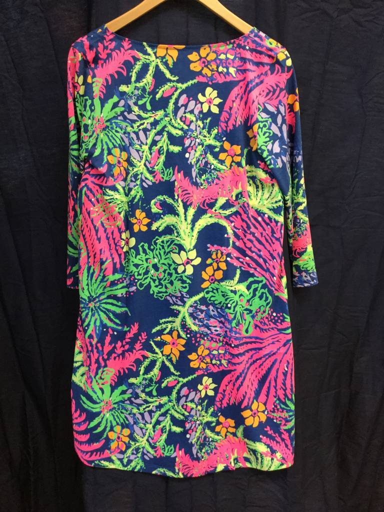 Lilly Pulitzer 25992 527SQ8 XS ERIN DRESS INDIGO ALL A GLOW XS by Lilly Pulitzer
