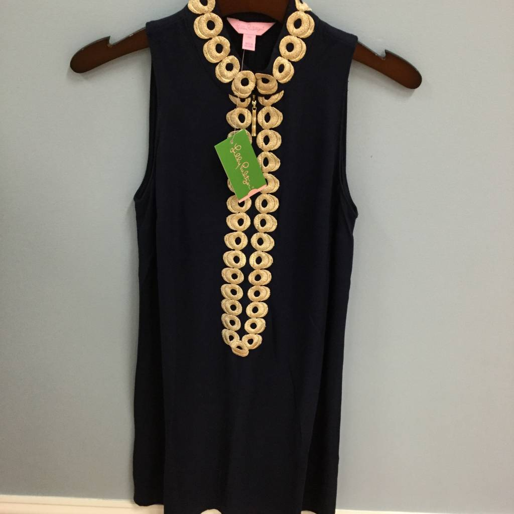 Lilly Pulitzer 25076 408 8 JANE SHIFT TRUE NAVY SIZE 8 by Lilly Pulitzer