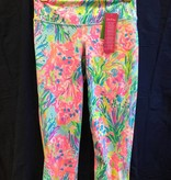 Lilly Pulitzer 25219 999 RH8 L UPF 50+ WEEKENDER CROPPED MULTI FAN SEA PANTS SIZE L by Lilly Pulitzer