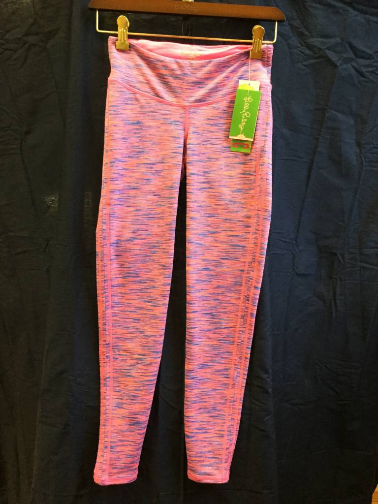 Lilly Pulitzer 24912 660 X64 L WEEKENDER LEGGING TIKI PINK SPACE DYE SIZE L by Lilly Pulitzer