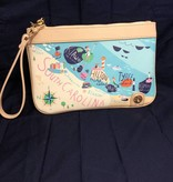 824649 Linen & Leather Sea Island Zip Pouch by Spartina 449