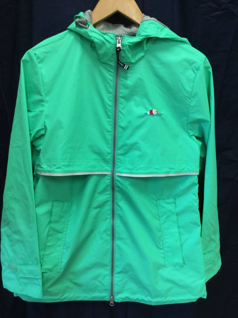 5099 Womens New Englander Rain Jacket in Mint Size M by Charles River Apparel