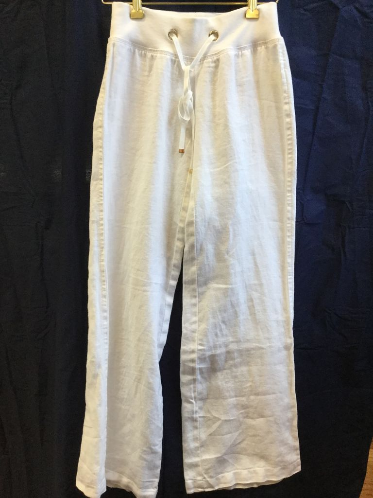 Lilly Pulitzer 32407-115-XXS Beach Pant in Resort White Size XXS by Lilly Pulitzer
