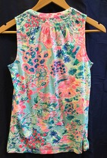 Lilly Pulitzer 97864 460 RG6 XS ESSIE TOP SERENE BLUE GYPSEA SIZE XS by Lilly Pulitzer