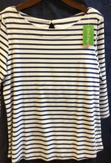 Lilly Pulitzer 24285 410 PJ3 XL WAVERLY TOP BRIGHT NAVY SERENE STRIPE SIZE XL by Lilly Pulitzer