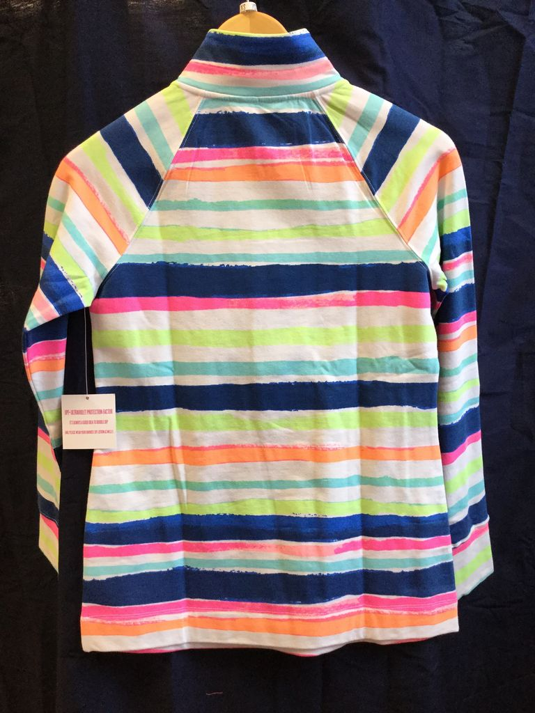 Lilly Pulitzer 20600 999 RG4 XS UPF 50+ SKIPPER POPOVER MULTI CATS MEOW STRIPE SIZE XS by Lilly Pulitzer