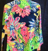 Lilly Pulitzer 20600 409 RD2 XS UPF 50+ SKIPPER POPOVER RESORT NAVY TRAVELERS PALM SIZE XS by Lilly Pulitzer
