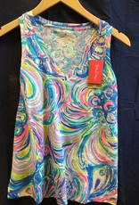 Lilly Pulitzer 25192 999 RI3 L JAYLYNNE TOP MULTI GILLTY PLEASURE SIZE L by Lilly Pulitzer