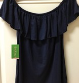Lilly Pulitzer 25084 408 XL LA FORTUNA TOP TRUE NAVY SIZE XL by Lilly Pulitzer
