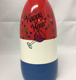 Fenwick Float-ors Chesapeake Buoy, Happy Hour DESIGN, Red Top / White Stripe / Royal Blue Bottom  BY FENWICK FLOAT-ORS