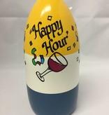Fenwick Float-ors Chesapeake Buoy, Happy Hour DESIGN, Yellow Top / White Stripe/ Royal Blue Bottom  BY FENWICK FLOAT-ORS
