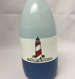 Fenwick Float-ors Chesapeake Buoy, Lighthouse on the Rocks (LOR) DESIGN, Light Blue Top / White Stripe / Royal Blue Bottom  BY FENWICK FLOAT-ORS