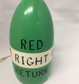 Fenwick Float-ors Chesapeake Buoy, Red Right Return Design, Light Green Top / White Stripe / Light Green Bottom  by Fenwick Float-ors