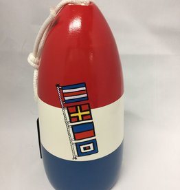 "Fenwick Float-ors Chesapeake Buoy, Nautical Flags - ""Crew"" Design, Red Top / White Stripe / Royal Blue Bottom  by Fenwick Float-ors"