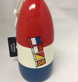 """Fenwick Float-ors Chesapeake Buoy, Nautical Flags - """"Ahoy"""" Design, Red Top / White Stripe / Royal Blue Bottom  by Fenwick Float-ors"""