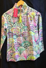 Lilly Pulitzer 20600 460 LF9 L UPF 50+ SKIPPER POPOVER SERENE BLUE OH SHELLO SIZE L by Lilly Pulitzer