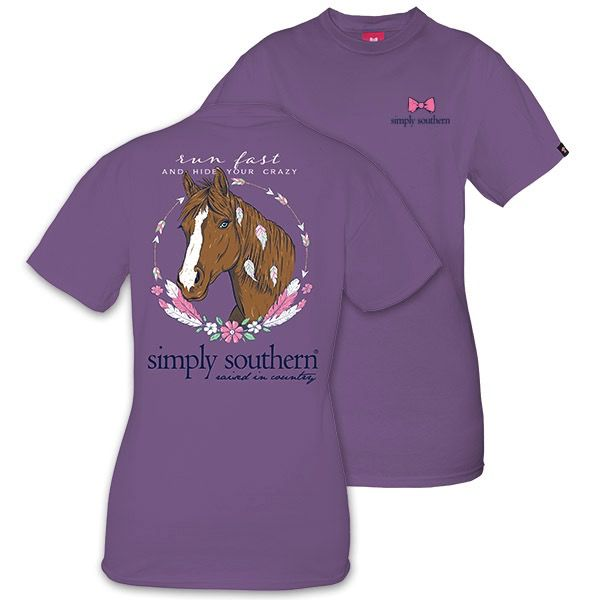 Simply Southern HORSE-AMETHYST-MEDIUM by Simply Southern