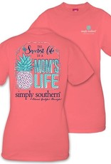 Simply Southern MOMSLIFE-PEONY-SMALL Short Sleeve Shirt
