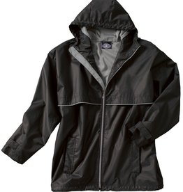 New Englander Rain Jacket Mens Black/Grey Large 9199 010