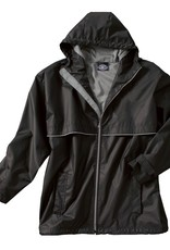 New Englander Rain Jacket Mens Black / Gray Medium 9199 010