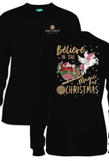 Simply Southern LS-SANTA-BLACK-LARGE by Simply Southern