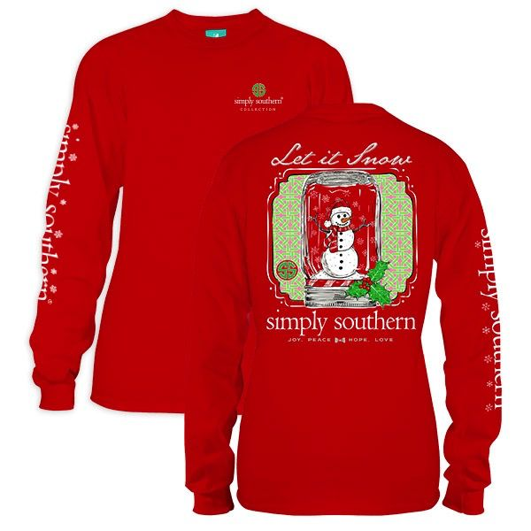 Simply Southern LS-SNOW-RED-MEDIUM by Simply Southern