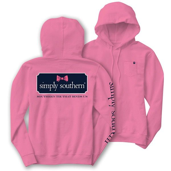 Simply Southern LS-HOOD-BOWLOGO-PEONY-SMALL Long Sleeve Hoodie by Simply Southern