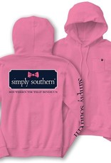 Simply Southern LS-HOOD-BOWLOGO-PEONY-LARGE Long Sleeve Hoodie by Simply Southern