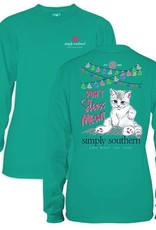 Simply Southern LS-MEOWT-SEAGLASS-SMALL Long Sleeve Shirt by Simply Southern
