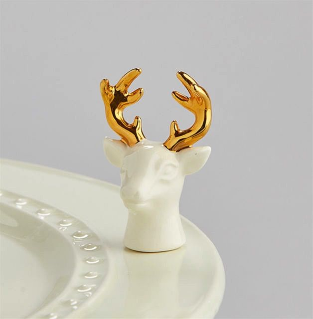 Nora Fleming A208 Oh, Deer! - Stags Head Minis