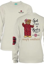 Simply Southern LS-BEARY-PEARL-MEDIUM Long Sleeve Tee by Simply Southern