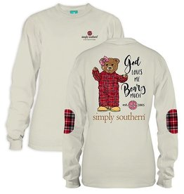 Simply Southern LS-BEARY-PEARL-XLARGE Long Sleeve Tee by Simply Southern