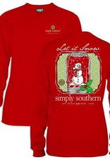 Simply Southern YTH-LS-SNOW-RED-LARGE by Simply Southern
